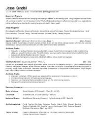 Resume Objective For Part Time Job by Awesome Teacher Resume Objective 25 In Free Online Resume Builder