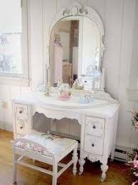 Vanity Mirror With Chair White Vanity Table With Mirror And Bench Foter