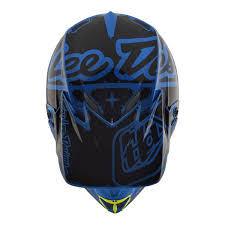 blue motocross helmet troy lee designs se4 polyacrylite off road racing motorcycle mx