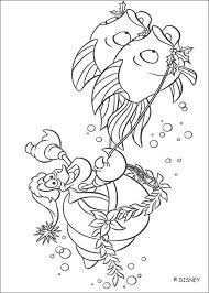 ariel king triton coloring pages hellokids