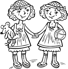 cute love coloring page of two girls coloring point