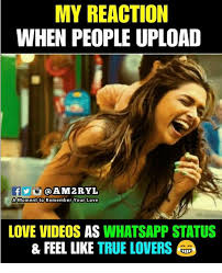 Upload Meme - my reaction when people upload a momentito remember your love love
