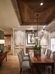 Rustic Dining Room Decorating Ideas by Rustic Dining Room With Reclaimed Wood Ceiling The Barn Board Was