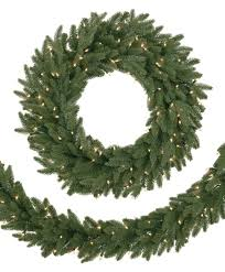 christmas garland with lights 9 prelit kennedy fir artificial christmas garland clear lights