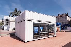bureau container container bureau pour le bureau organisateur de la fan zone