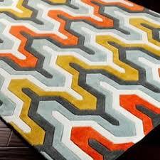 Geometric Orange Curtains Vintage 1970s Geometric Orange Curtains By Retro68 Decorate