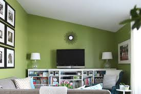 green paint living room iheart organizing living room update a gallon of paint later