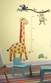 100 wildlife wall stickers giraffe wall decal jungle safari wildlife wall stickers roommates giraffe peel and stick metric growth chart wall decals