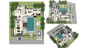 villa plan plan land area information layout villa architecture plans 78196