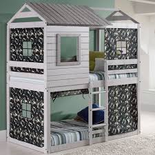 deer blind twin over twin bunk bed with tent kit products
