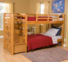 Loft Bunk Bed With Stairs Storage Bed Bunk Bed With Stair Storage White Bunk Beds With