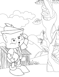 jack and the beanstalk coloring page jack and the beanstalk giant