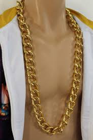 fashion necklace gold images Gold metal thick chain links heavy long chunky necklace new men jpg