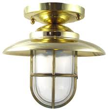 Flush Mounted Lighting Fixtures by Hooded Flush Mount Light Solid Brass Interior U0026 Exterior By