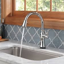 touch2o kitchen faucet delta cassidy pull touch single handle kitchen faucet with and