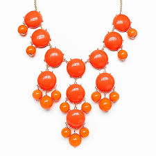 gold orange necklace images Orange bubble necklace bold statement necklace with gold chain jpg