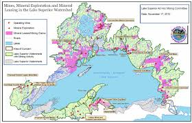 Map Of Lake Superior Save Our Sky Blue Waters