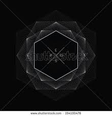 artistic ornamental background line graphics hexagon stock vector