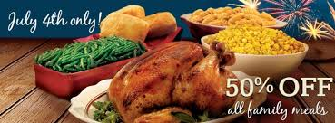 news boston market half family meal on july 4 2014 brand