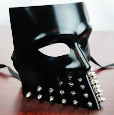 black bauta mask dominator black spike mask