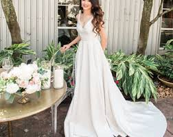 Wedding Dress Elegant Satin Wedding Dress Etsy