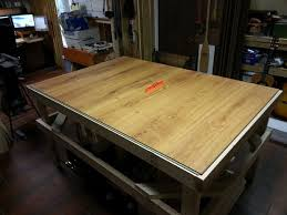 Woodworking Bench Top Surface by Laminate Flooring Workbench