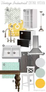 mood board vintage industrial cottage kitchen our diy house by