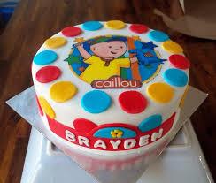 caillou birthday cake caillou birthday cake cakecentral