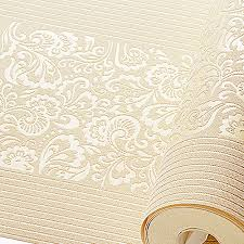 home texture aliexpress com buy beige yellow embossed texture floral striped
