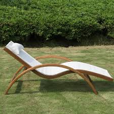 wooden patio chaise lounge chair outdoor furniture pool garden