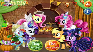 my little pony halloween party video new my little pony games