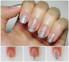 easy nail art glitter interesting nail design plus cotton candy blog easy french glitter