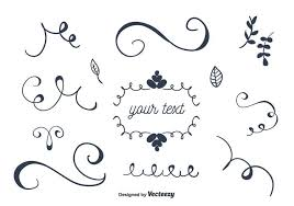 set of ornaments vector free vector stock graphics