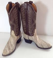 tony lama mens western cowboy boots size 6 5 b eel leather exotic