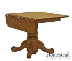 Drop Leaf Pedestal Table Drop Leaf Single Pedestal Dining Table Homestead Furniture