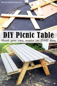 Build A Picnic Table Do It Yourself by Diy Picnic Table Building A Picnic Table In Just One Day