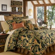 Beach Comforter Sets La Selva Black Tropical Comforter Bedding