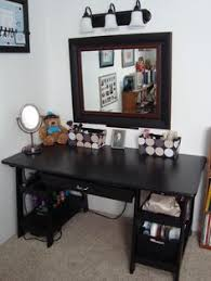 black makeup desk with drawers secretary desk turned into a makeup counter diy aiyana lauridsen