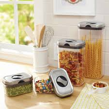 walmart kitchen canisters better homes and gardens 8 canister set walmart com