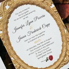 wedding invitations quincy il new beauty and the beast wedding invites for inspired beauty and