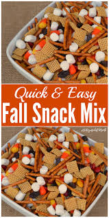 easy fall snack mix the resourceful