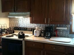 faux tin kitchen backsplash decorating creating breezy kitchen design tin backsplash