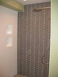 chevron palms glass bathroom project architectural ceramics
