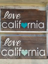 reclaimed wood sign california by ourrecycledlife on etsy
