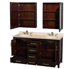 Bathroom Double Sink Vanities 60 Inch by Sheffield 60 Inch Double Sink Bathroom Vanity Espresso Finish Set