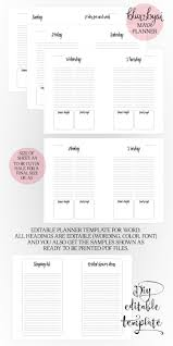 to do planner template a5 printable planner editable planner template for word zoom