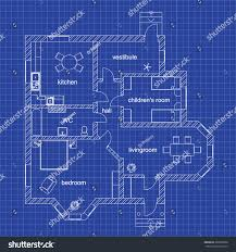 blueprint floor plan modern apartment on stock vector 399209836
