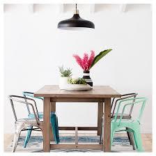 carlisle metal dining chair natural metal set of 2 target