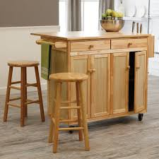 Natural Wood Kitchen Island by Kitchen Island Rustic Small Kitchen Island Cart With Wood And