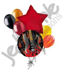 imagenes feliz cumpleaños rockero 7 pc rockstar rock on happy birthday balloon bouquet flaming